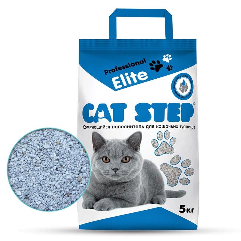 Комкующийся наполнитель туалета для кошек Cat Step Professional Elite 5 кг фото