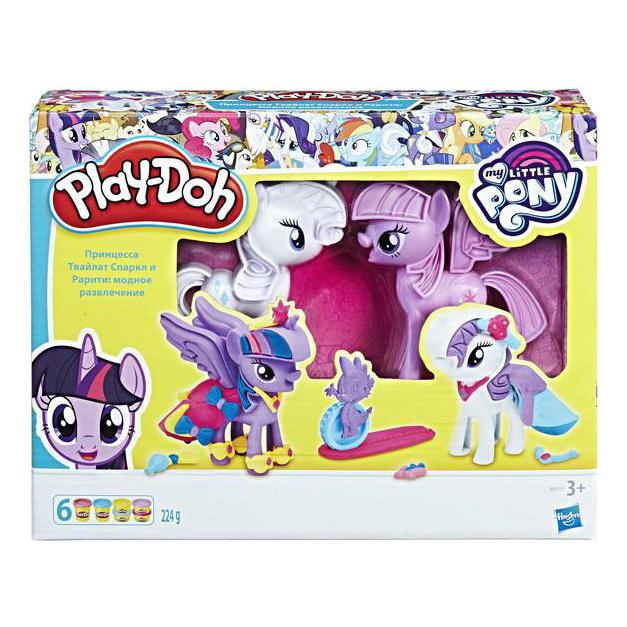 Игровой набор My little Pony Play-Doh Твайлайт и Рарити