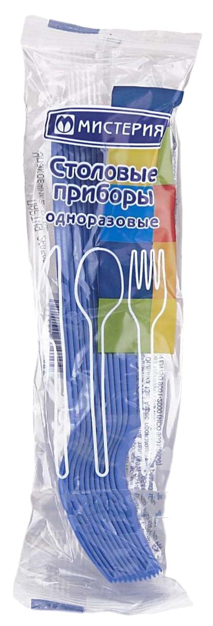 Вилки Мистерия пластиковые белые для одноразового применения,