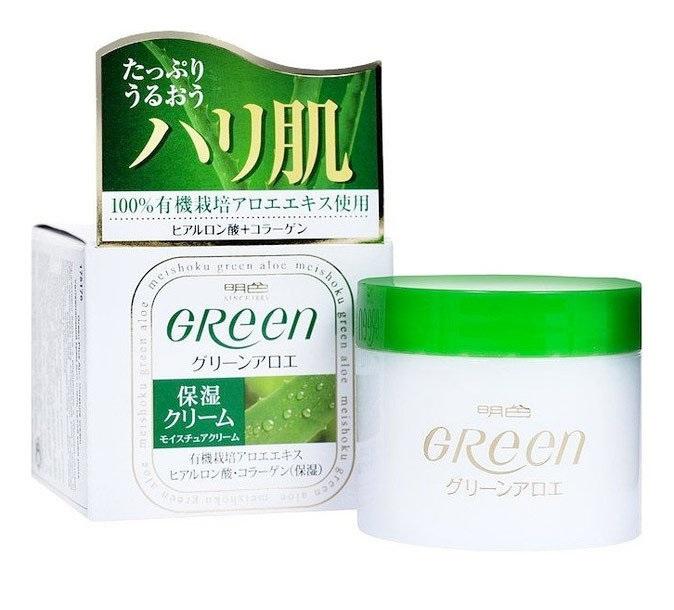 Купить Увлажняющий крем для сухой кожи лица Meishoku Green Plus Aloe Moisture Cream 48 г