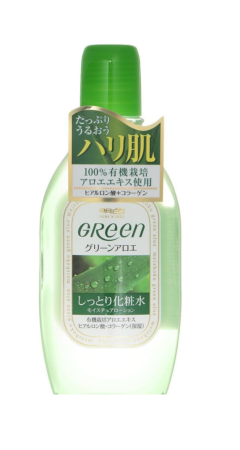 Купить Увлажняющий лосьон для ухода за сухой кожей лица Meishoku Green Plus Aloe 170 мл