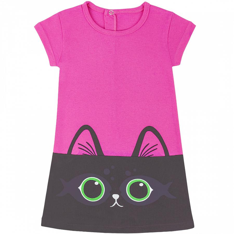 Купить 924/2п ап, Платье детское Юлла, цв. розовый р. 122, Платья для девочек