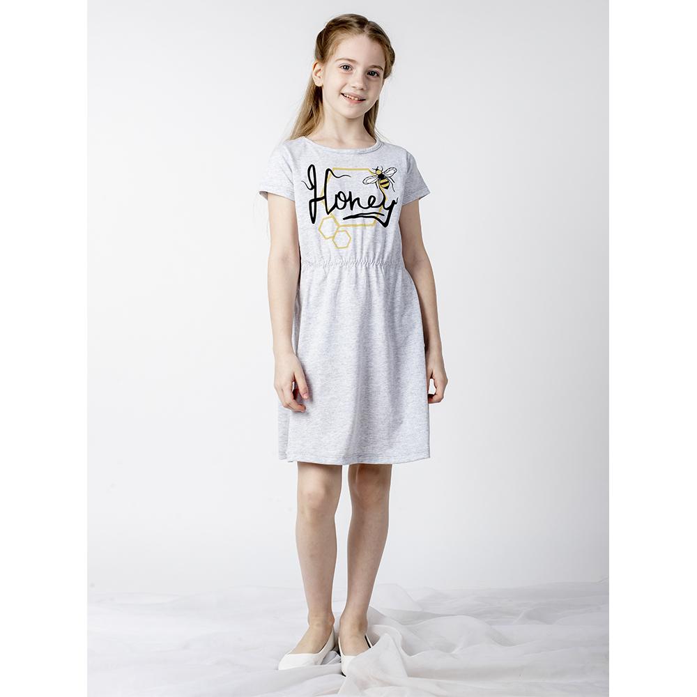 Купить 680/2к ап, Платье детское Юлла, цв. серый р. 110, Платья для девочек