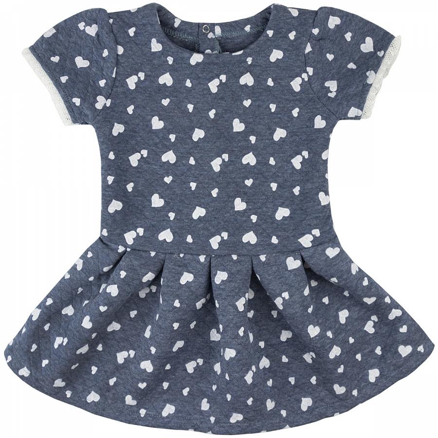 Купить 1185кп, Платье детское Юлла, цв. синий р. 122, Платья для девочек
