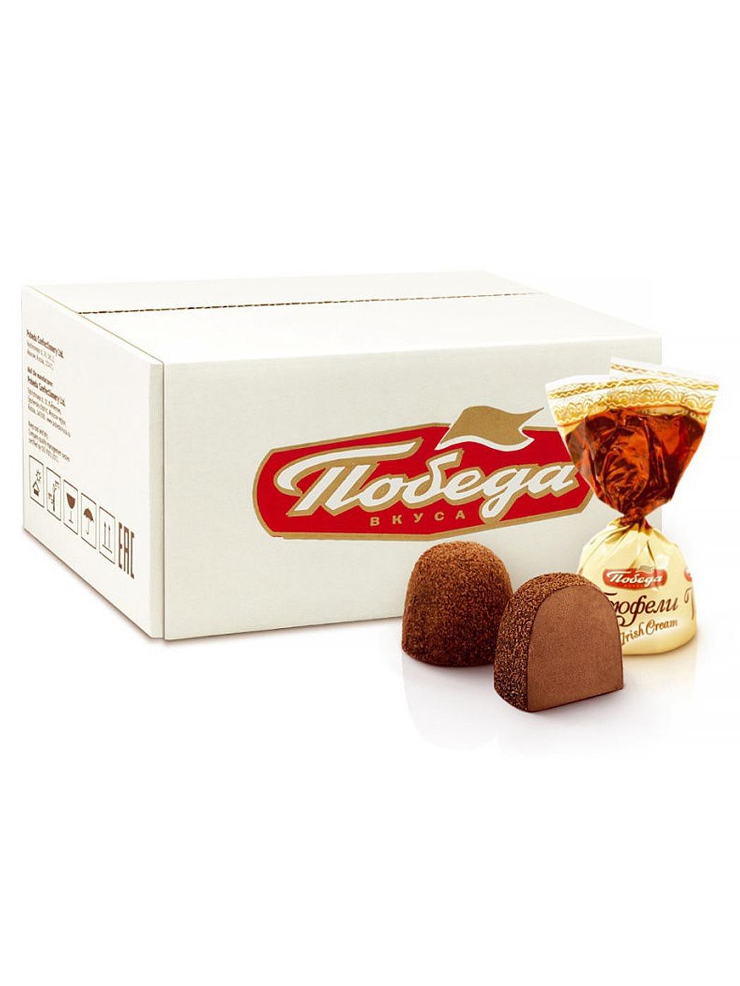 Трюфели шоколадные Победа Вкуса с айриш крем 2 кг фото
