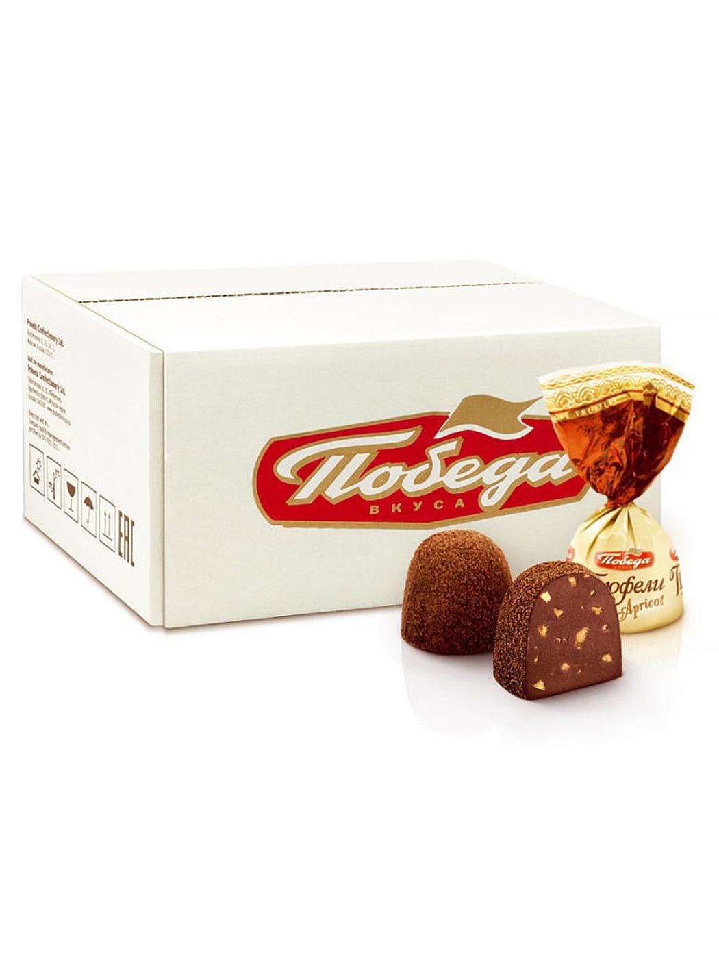 Трюфели шоколадные Победа Вкуса с абрикосом 2 кг фото