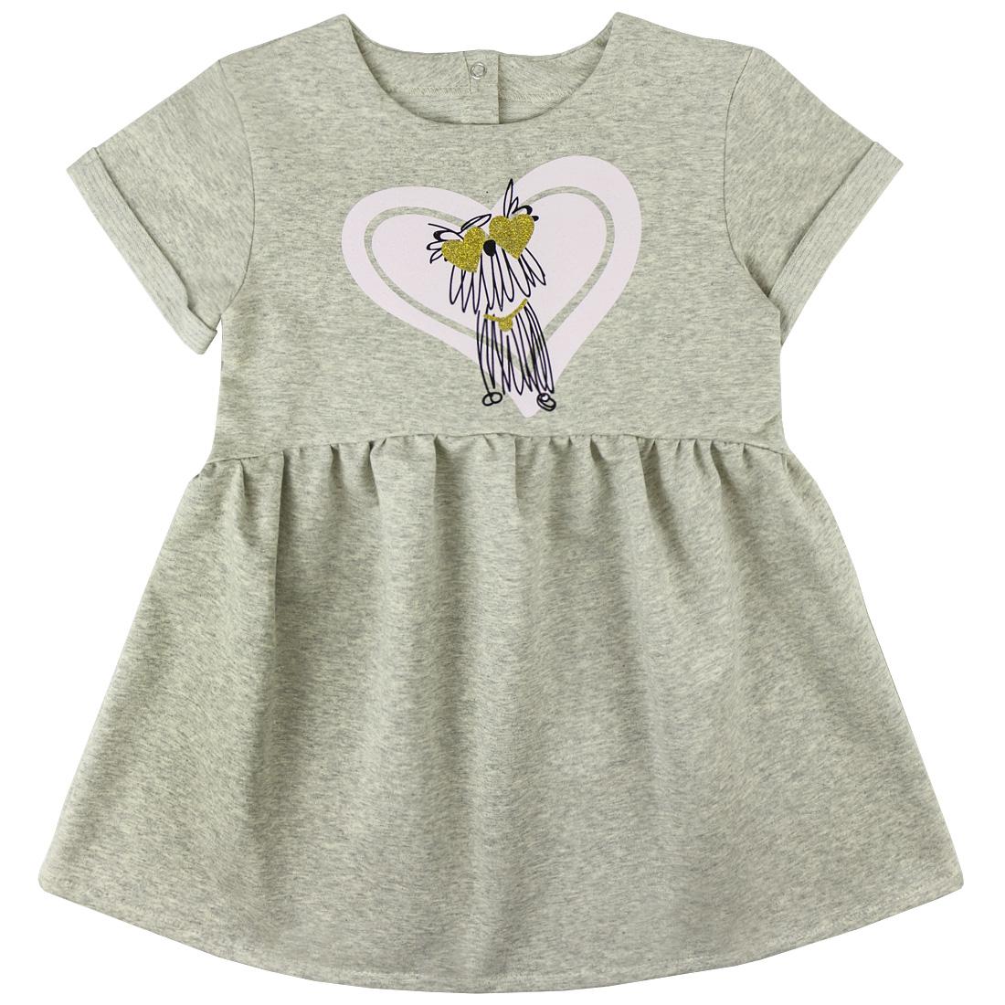 Купить 880/2фд ап, Платье детское Юлла, цв. серый р. 122, Платья для девочек