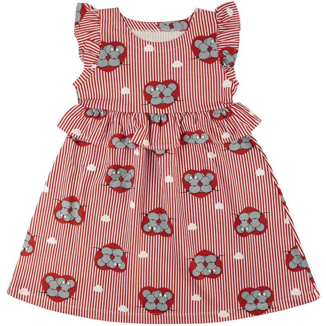 Купить 717/3к, Платье детское Юлла, цв. красный р. 92, Платья для новорожденных