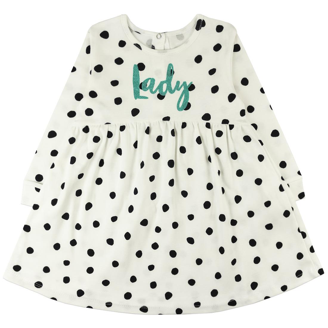 Купить 1137и ап, Платье детское Юлла, цв. белый р. 80, Платья для новорожденных