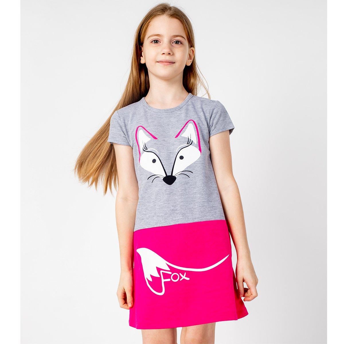 Купить 924/3п ап, Платье детское Юлла, цв. серый р. 110, Платья для девочек