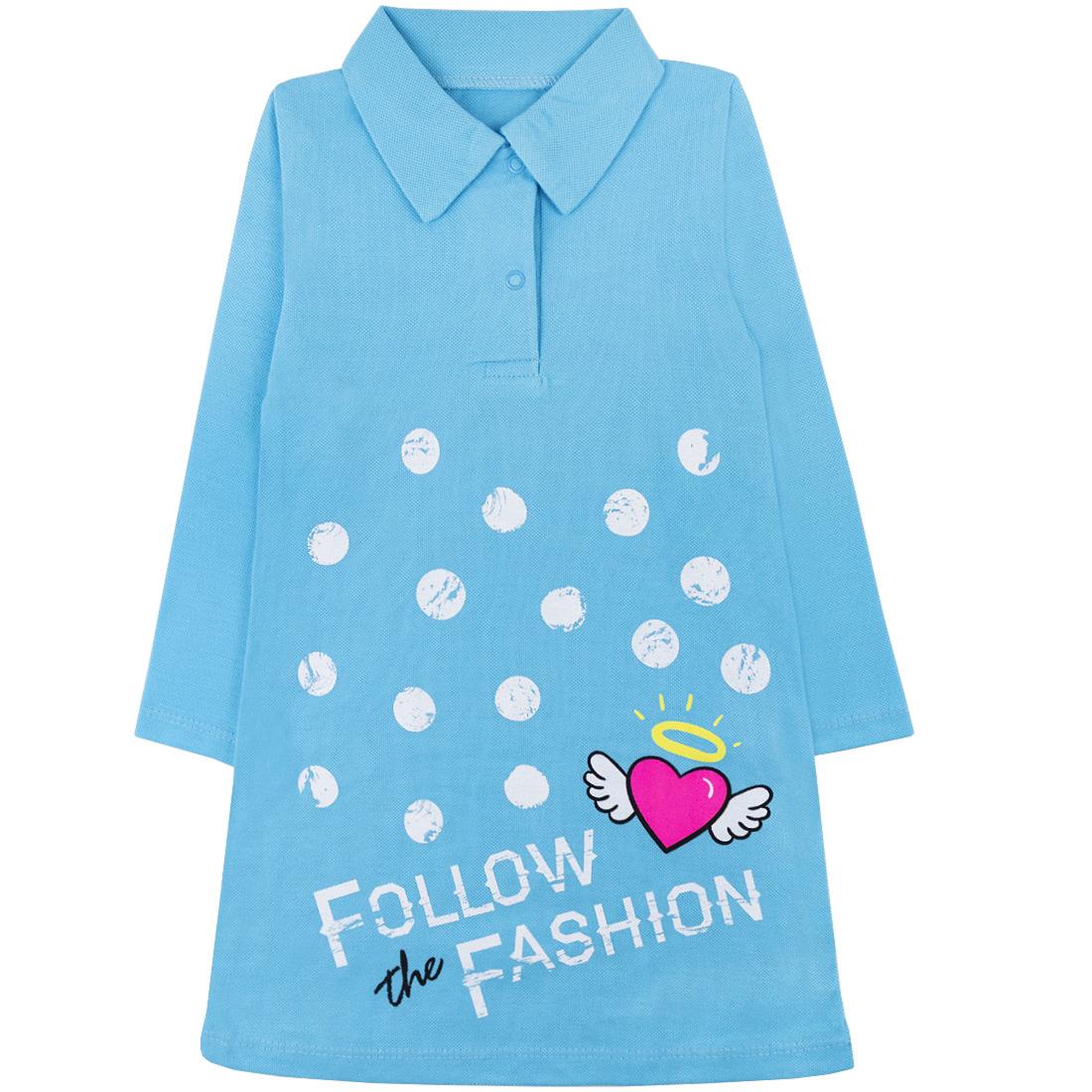 Купить 582/2п ап, Платье детское Юлла, цв. голубой р. 122, Платья для девочек
