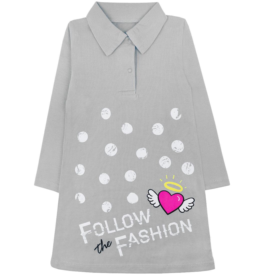 Купить 582/2п ап, Платье детское Юлла, цв. серый р. 122, Платья для девочек