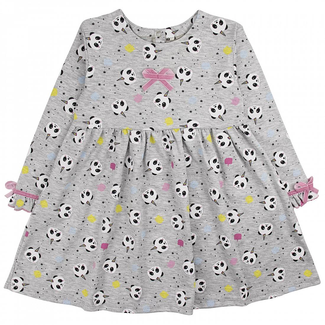Купить 905 и, Платье детское Юлла, цв. серый р.122, Платья для девочек