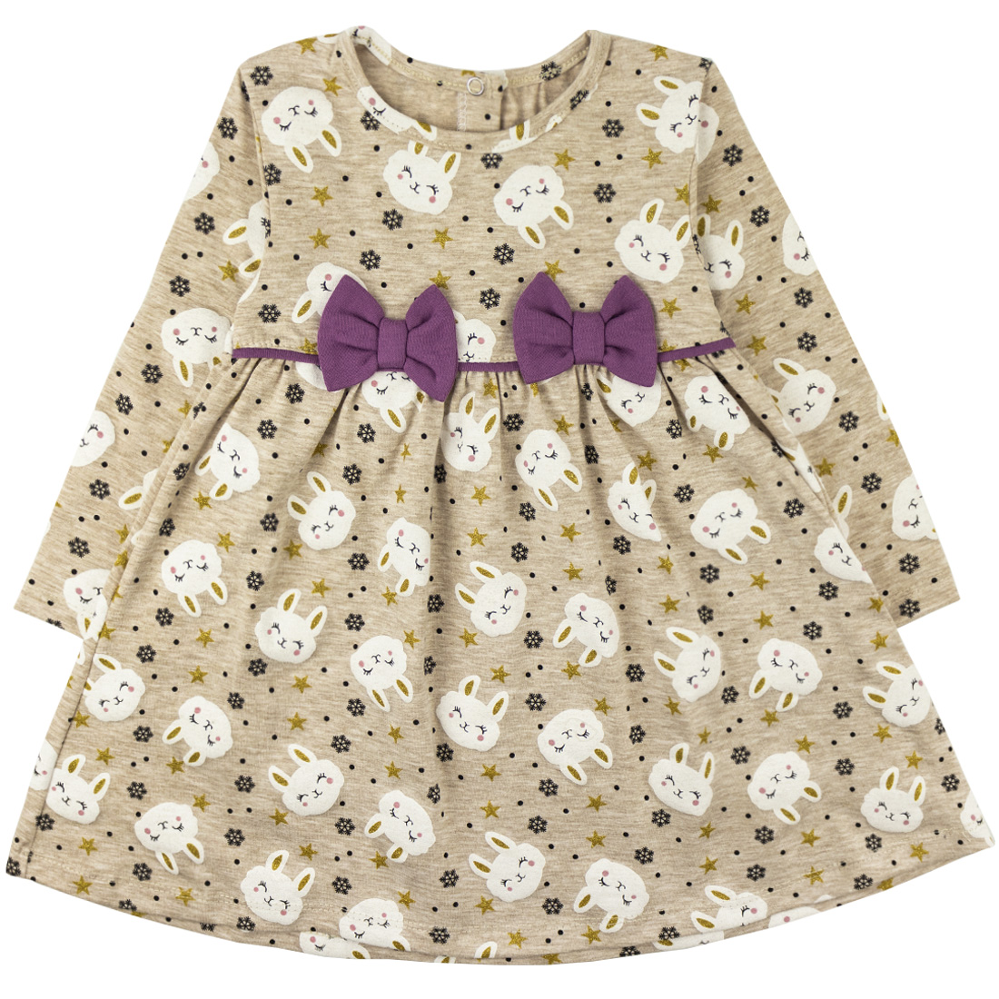 Купить 877/2к, Платье детское Юлла, цв. бежевый р. 110, Платья для девочек