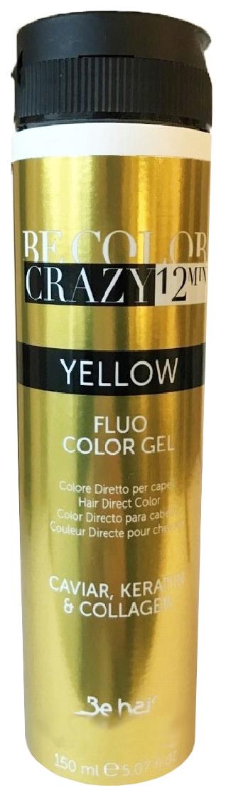 Гель тонирующий для волос Be Hair Be Color Crazy Color Yellow, тон желтый, 100 мл