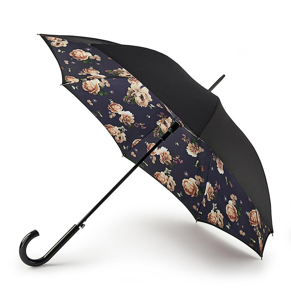 Зонт-трость женский автоматический Fulton L754-3792 черный