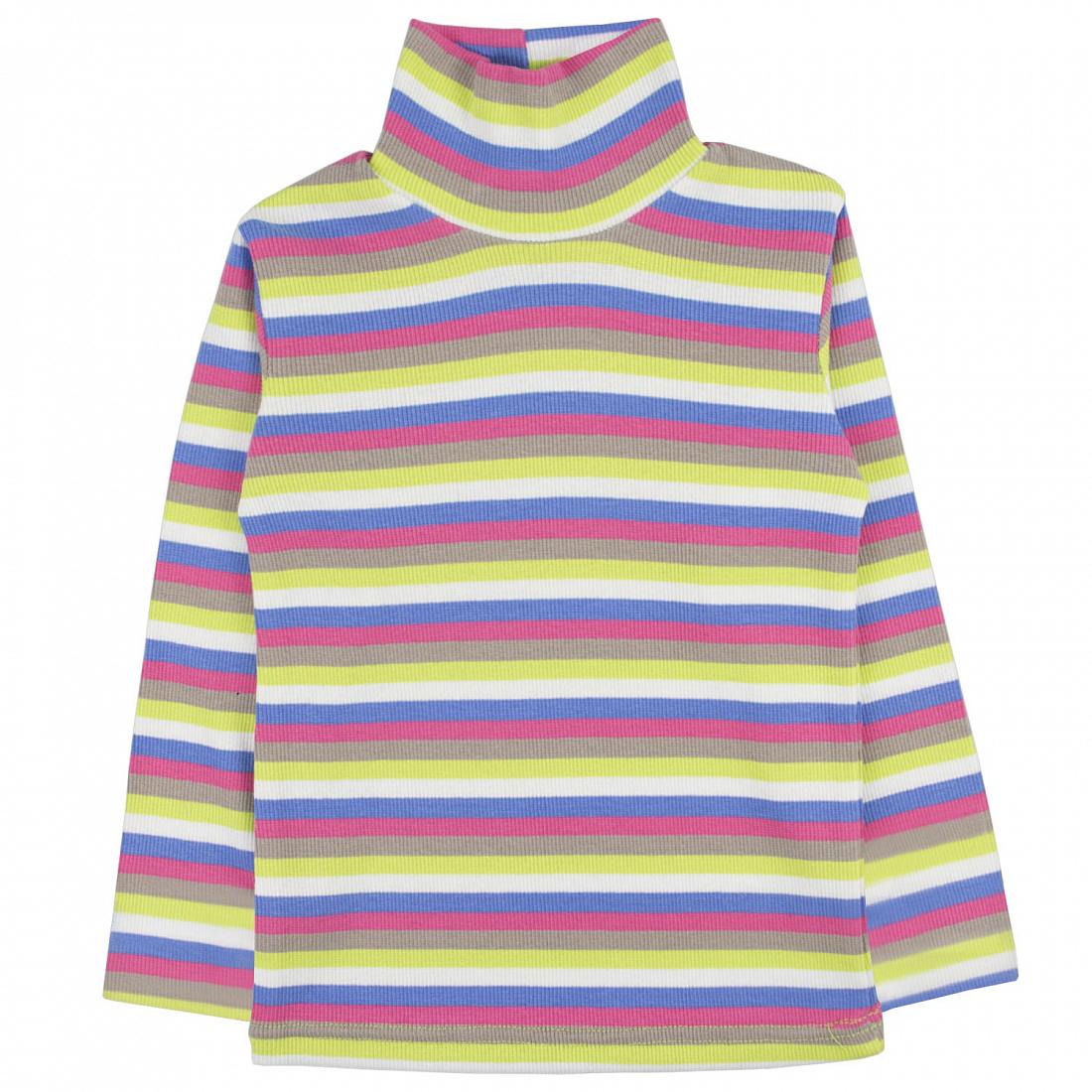 Купить 079к пол, Водолазка детская Юлла, цв. разноцветный р.134, Водолазки для девочек