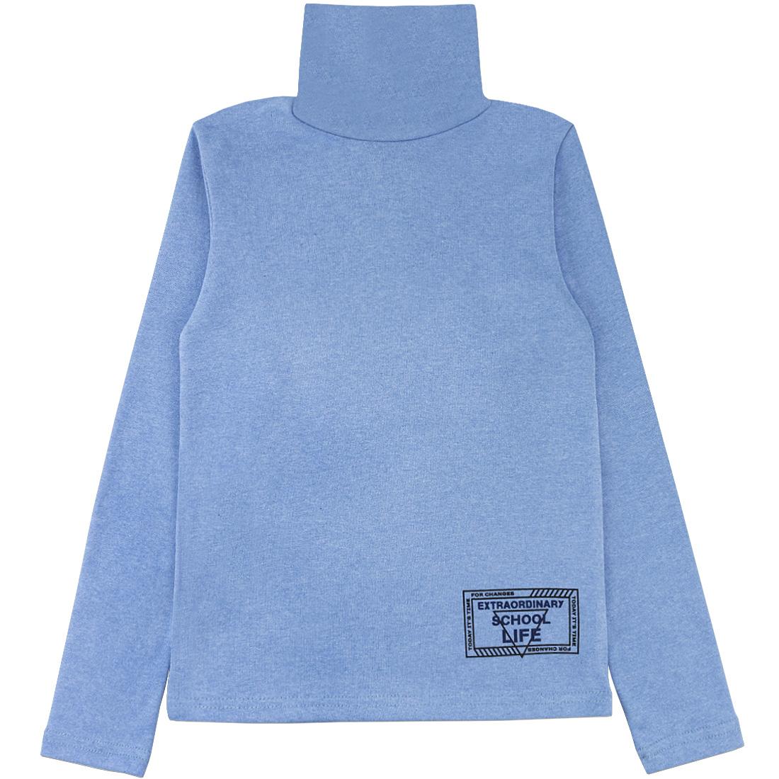 Купить 079/2р ап, Водолазка детская Юлла, цв. голубой р. 134, Водолазки для мальчиков
