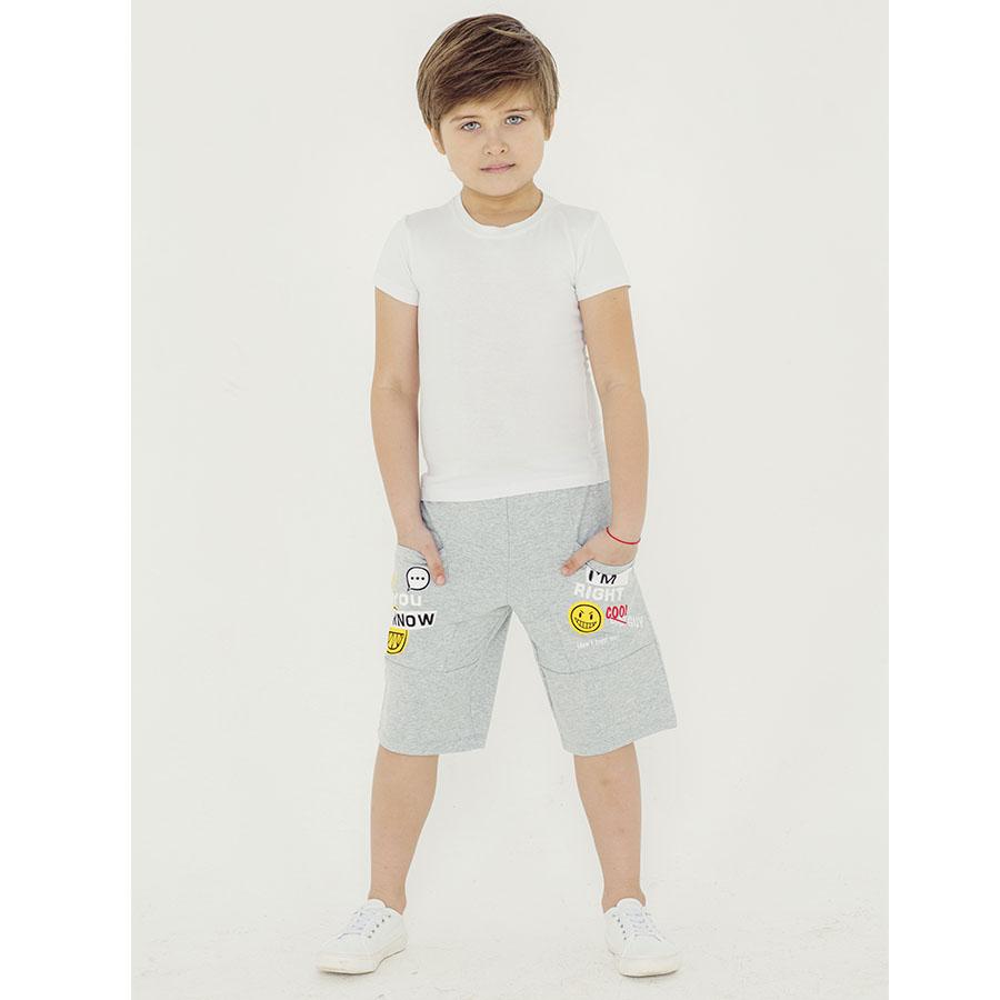 Купить 1014фд ап, Бриджи детские Юлла, цв. серый р. 134, Бриджи для мальчиков