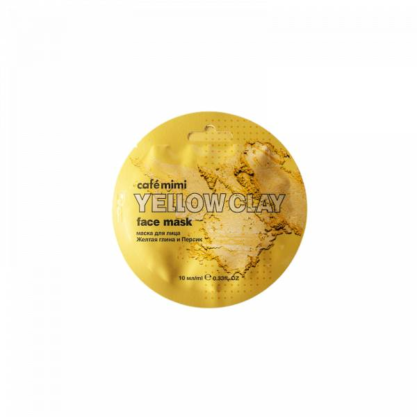 Маска для лица CafeMIMI Желтая глина&Персик