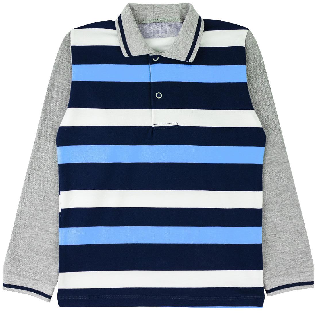 Купить 099п комб, Поло детское Юлла, цв. голубой р. 134, Футболки для мальчиков