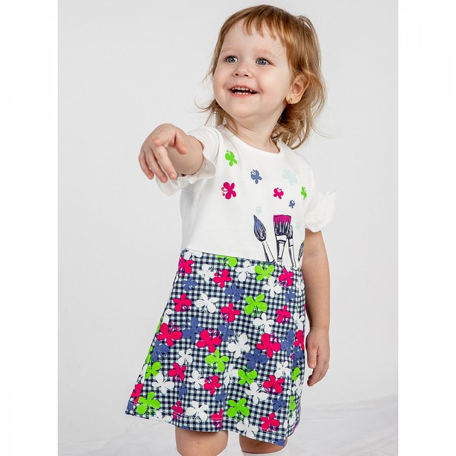 Купить 831и/б ап, Платье детское Юлла, цв. белый р. 92, Платья для новорожденных