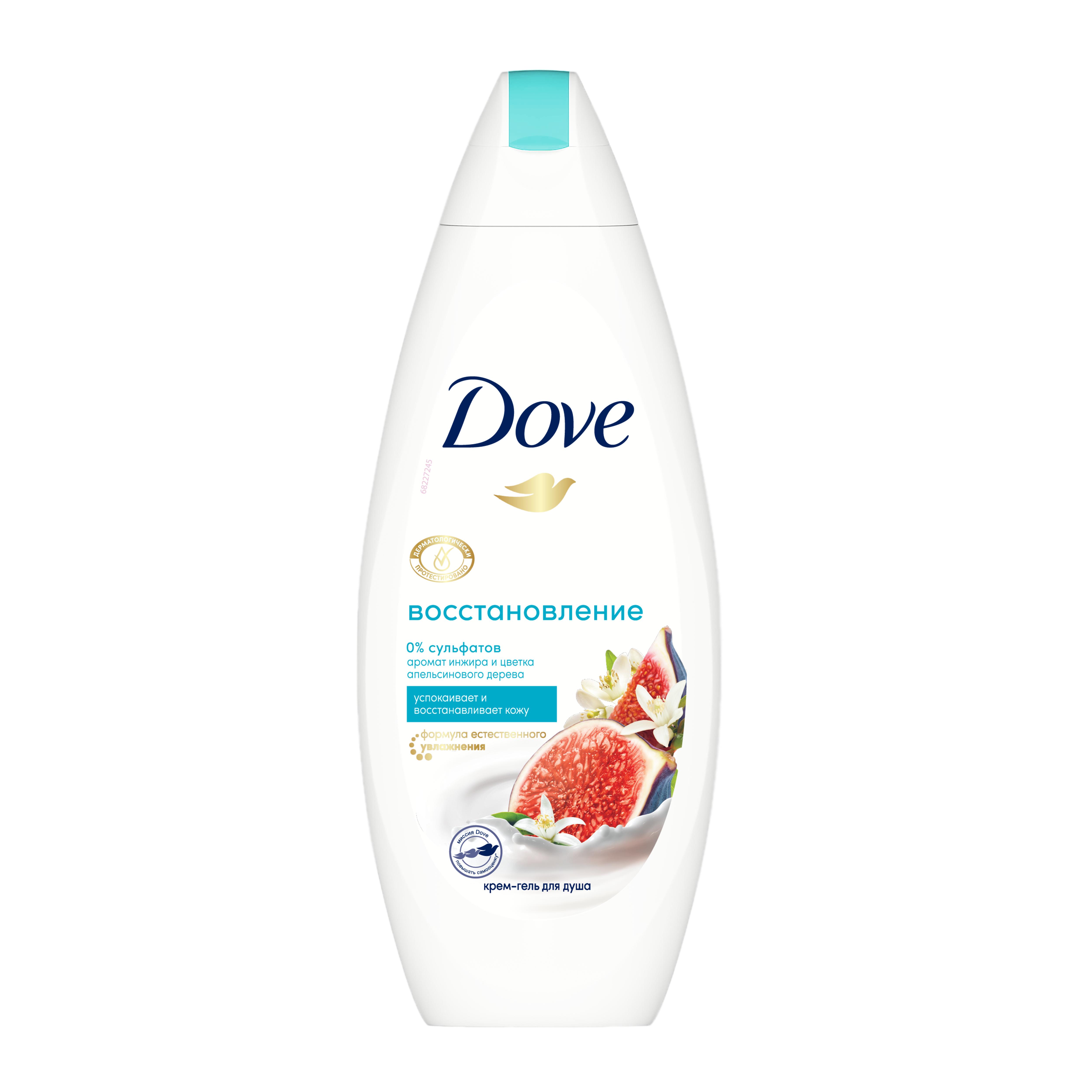 Крем-Гель для душа Dove Инжир и лепестки апельсина 250 мл