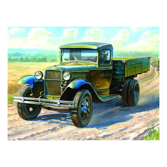 Модели для сборки Zvezda Советский армейский грузовик Полуторка (ГАЗ-АА) фото