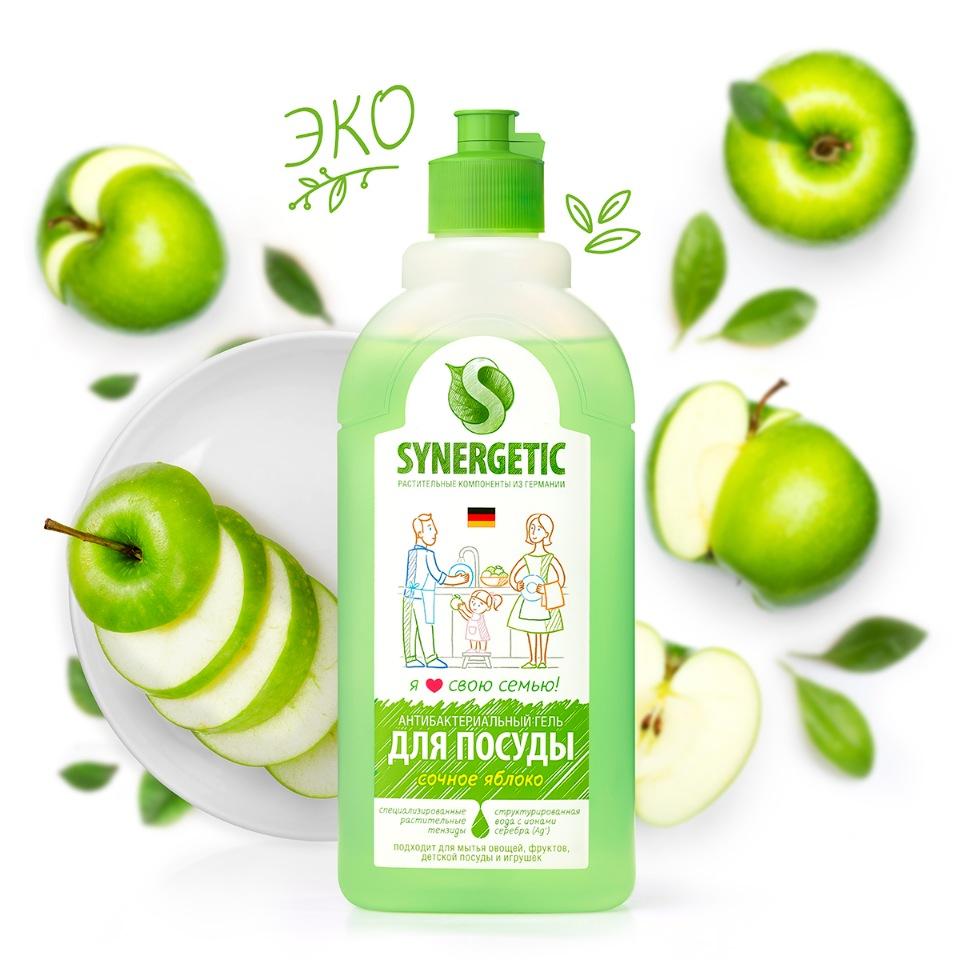 Средство для мытья детской посуды Synergetic Яблоко