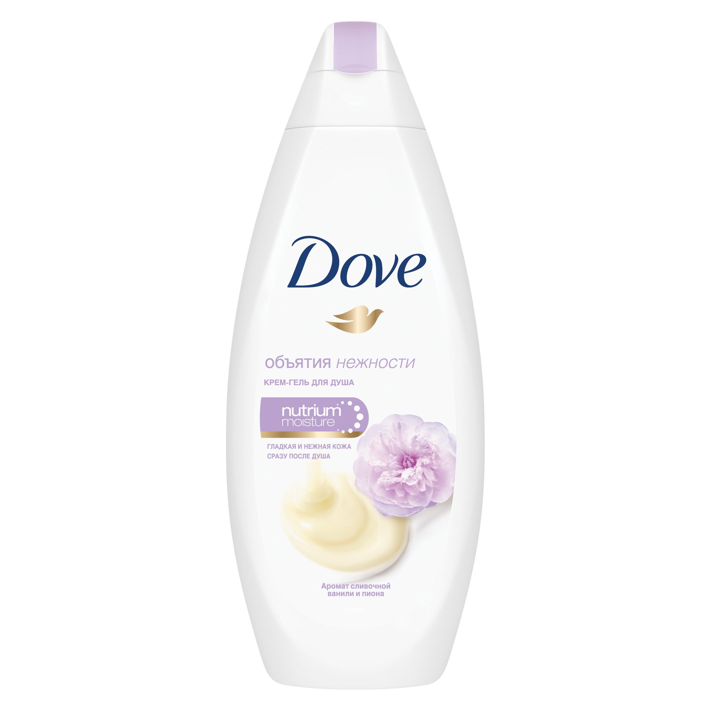 Гель для душа Dove Сливочная ваниль и пион 250 мл фото