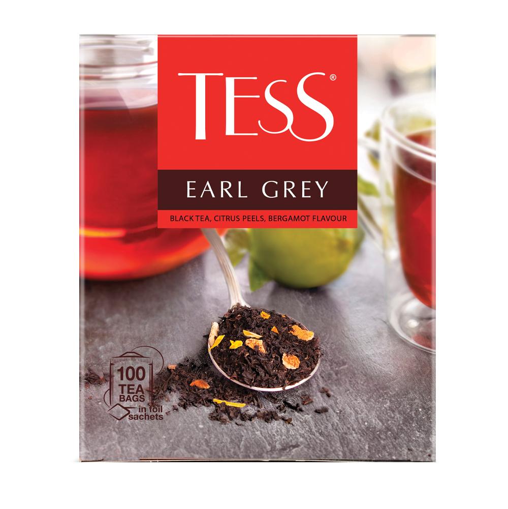 Чай черный Tess Earl Grey 100 пакетиков фото