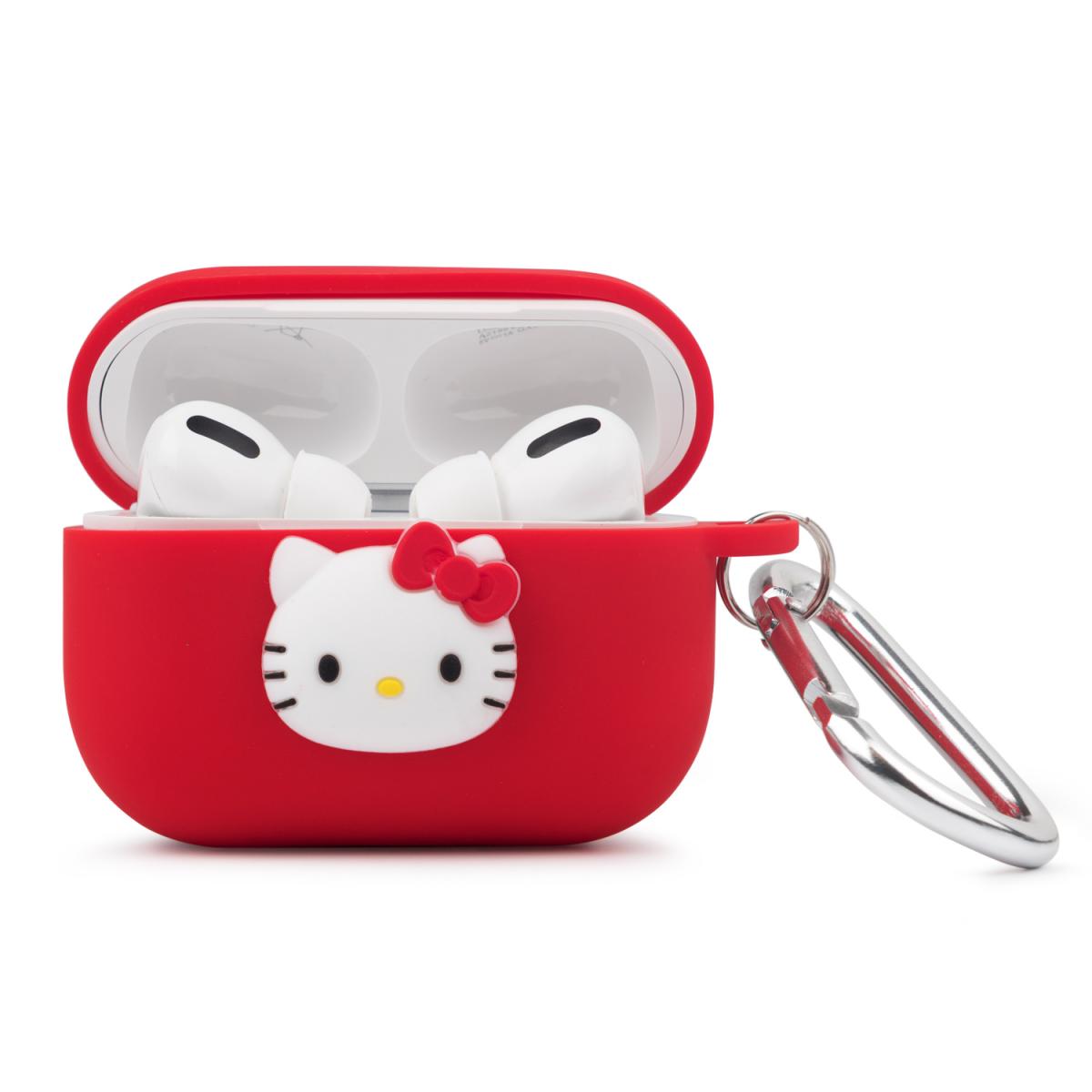 Чехол для Apple Airpods Hello Kitty Cartoon Silicone Case Red фото