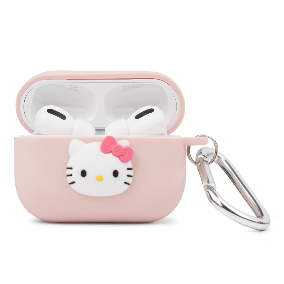 Чехол для Apple Airpods Pro Hello Kitty Cartoon Silicone Case Pink фото