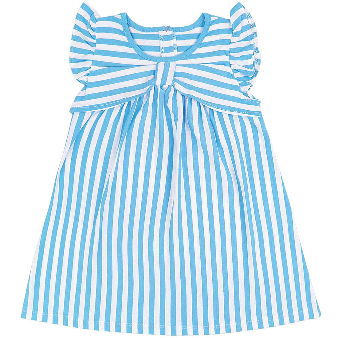 Купить 939/2к, Платье детское Юлла, цв. голубой р. 74, Платья для новорожденных
