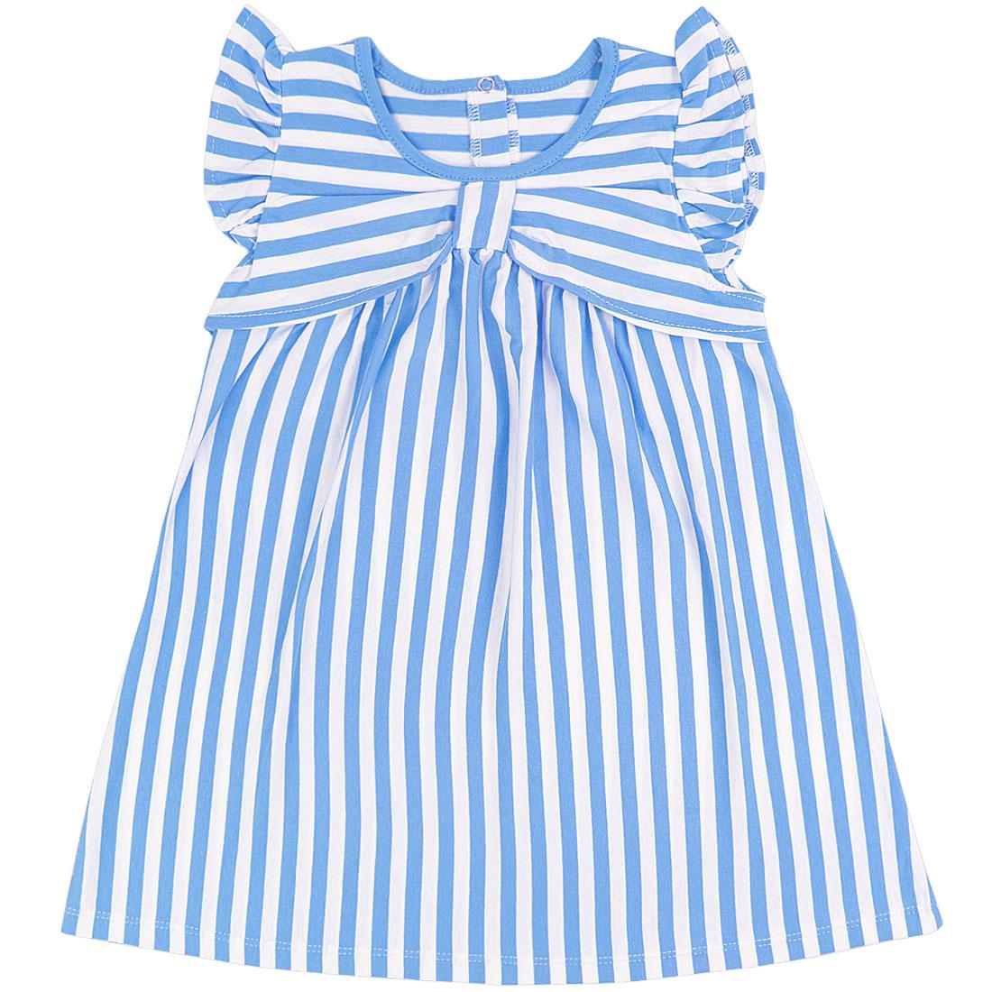Купить 939/2к, Платье детское Юлла, цв. синий р. 74, Платья для новорожденных