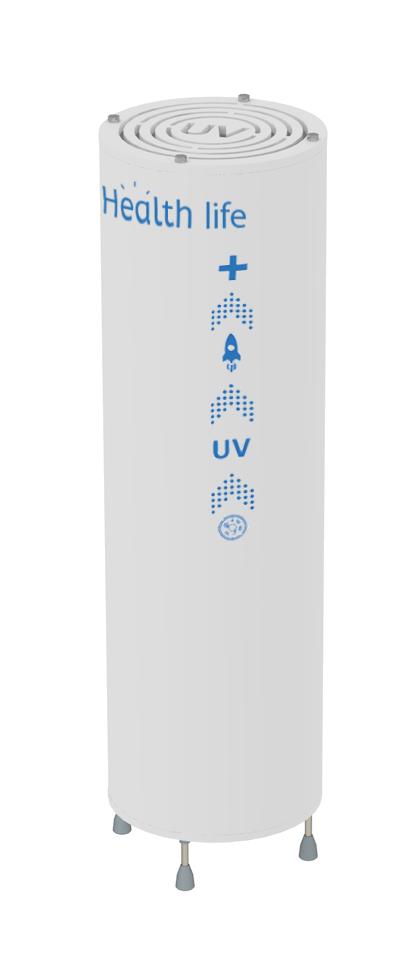 Бактерицидный рециркулятор напольный вертикальный Health life