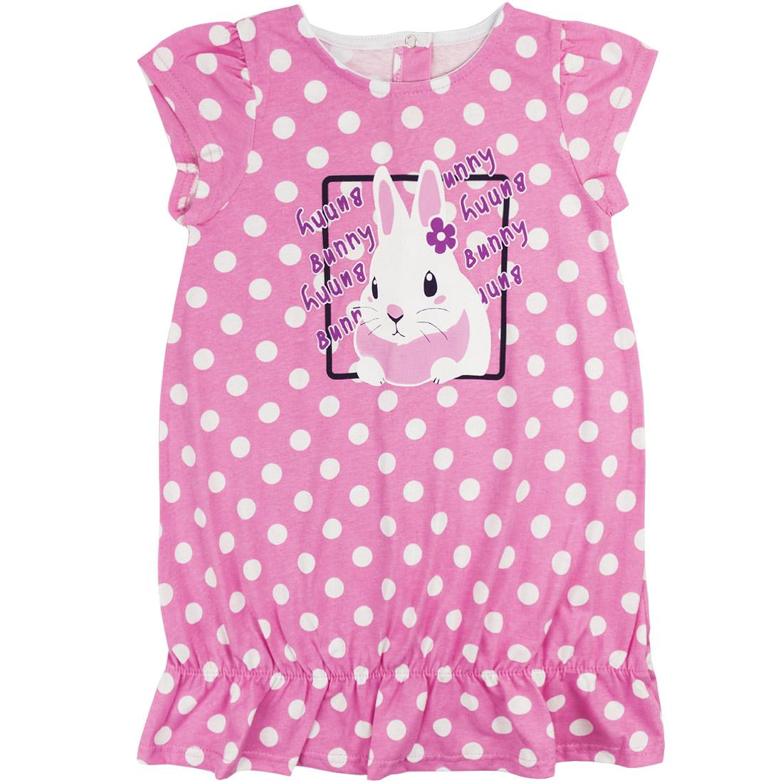 Купить 634к ап, Платье детское Юлла, цв. розовый р. 122, Платья для девочек