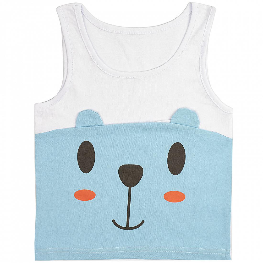 Купить 340К, Майка детская Юлла, цв. голубой р. 80, Детские футболки