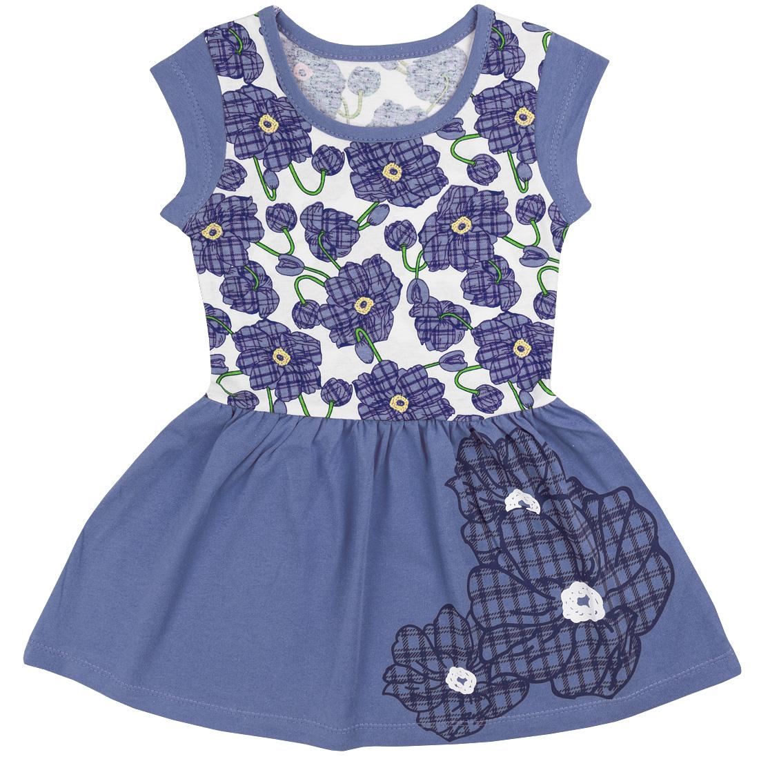 Купить 395к/к ап, Платье детское Юлла, цв. синий р. 122, Платья для девочек