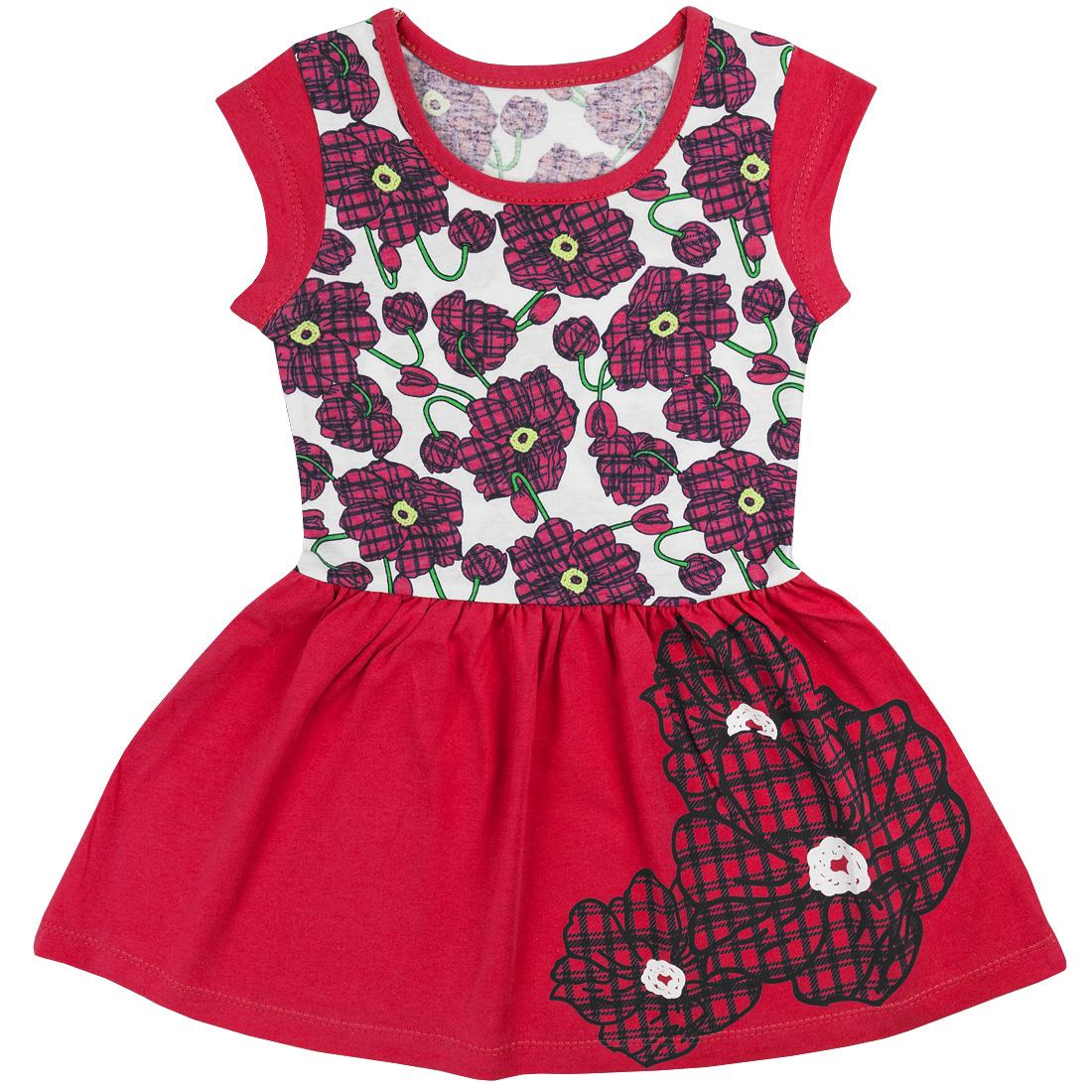 Купить 395к/к ап, Платье детское Юлла, цв. красный р. 122, Платья для девочек