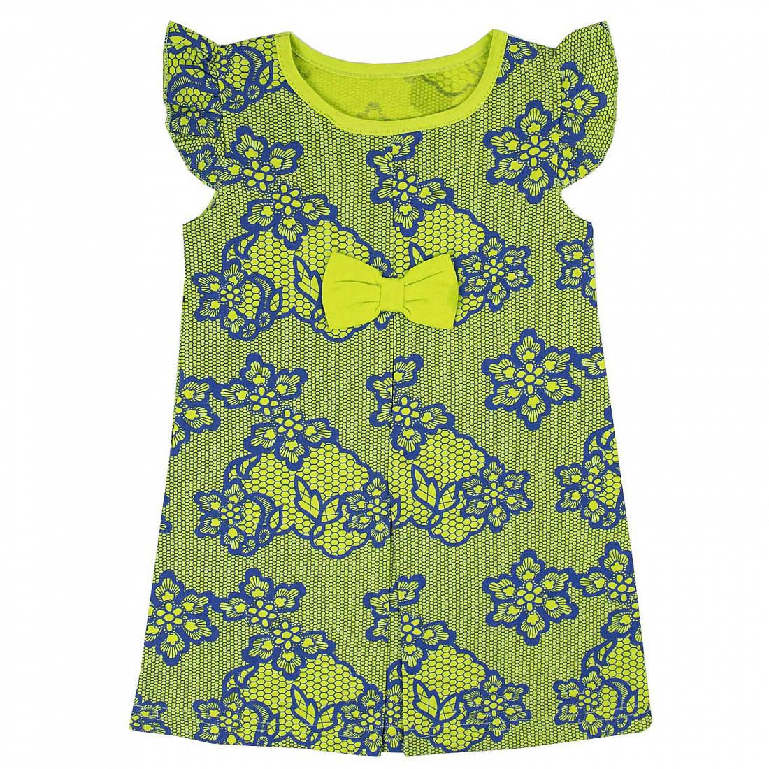 Купить 312к, Платье детское Юлла, цв. зеленый р. 110, Платья для девочек