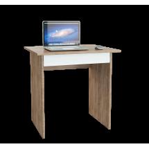 Компьютерный стол МФ Мастер Милан-2Я МСТ-СДМ-2Я-СБ-16 76,4x60x75, дуб сонома/белый