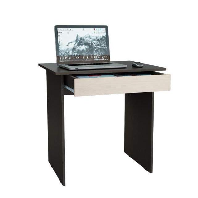 Компьютерный стол МФ Мастер Милан-2Я МСТ-СДМ-2Я-ВД-16 76,4x60x75, венге/дуб молочный фото