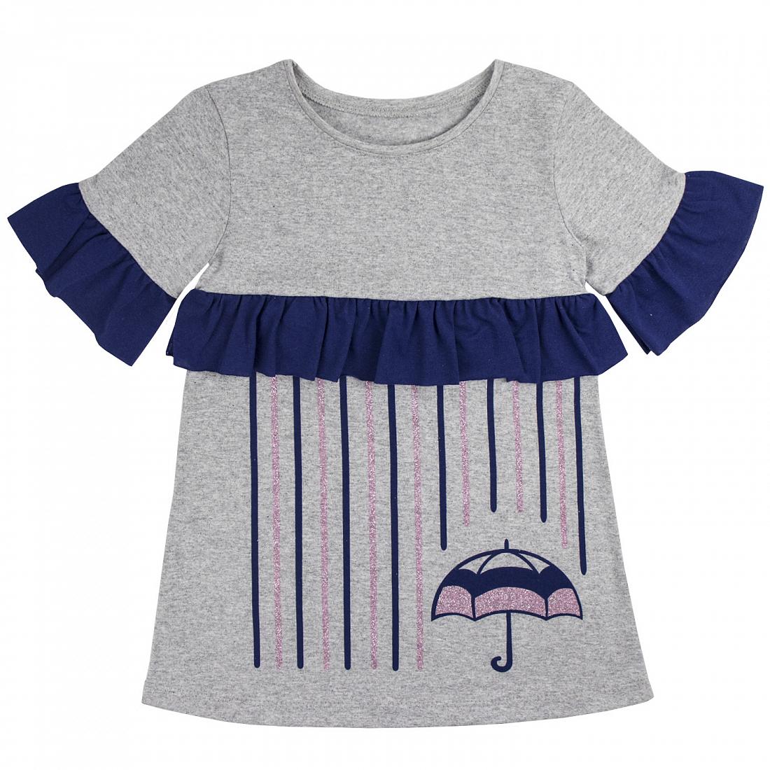 Купить 900 к ап, Платье детское Юлла, цв. серый р. 122, Платья для девочек