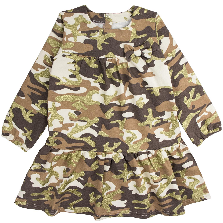 Купить 879фд кам., Платье детское Юлла, цв. коричневый р. 122, Платья для девочек