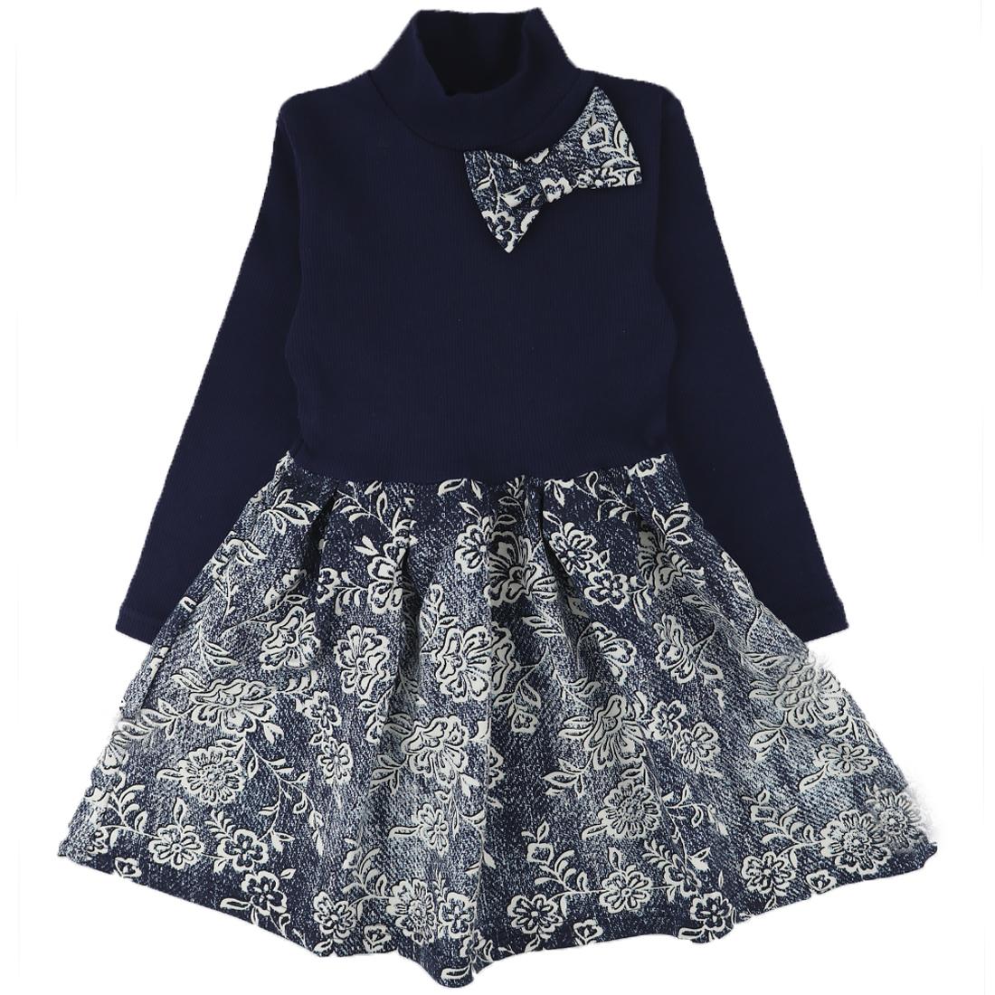 Купить 382ФД, Платье детское Юлла, цв. синий р. 122, Платья для девочек