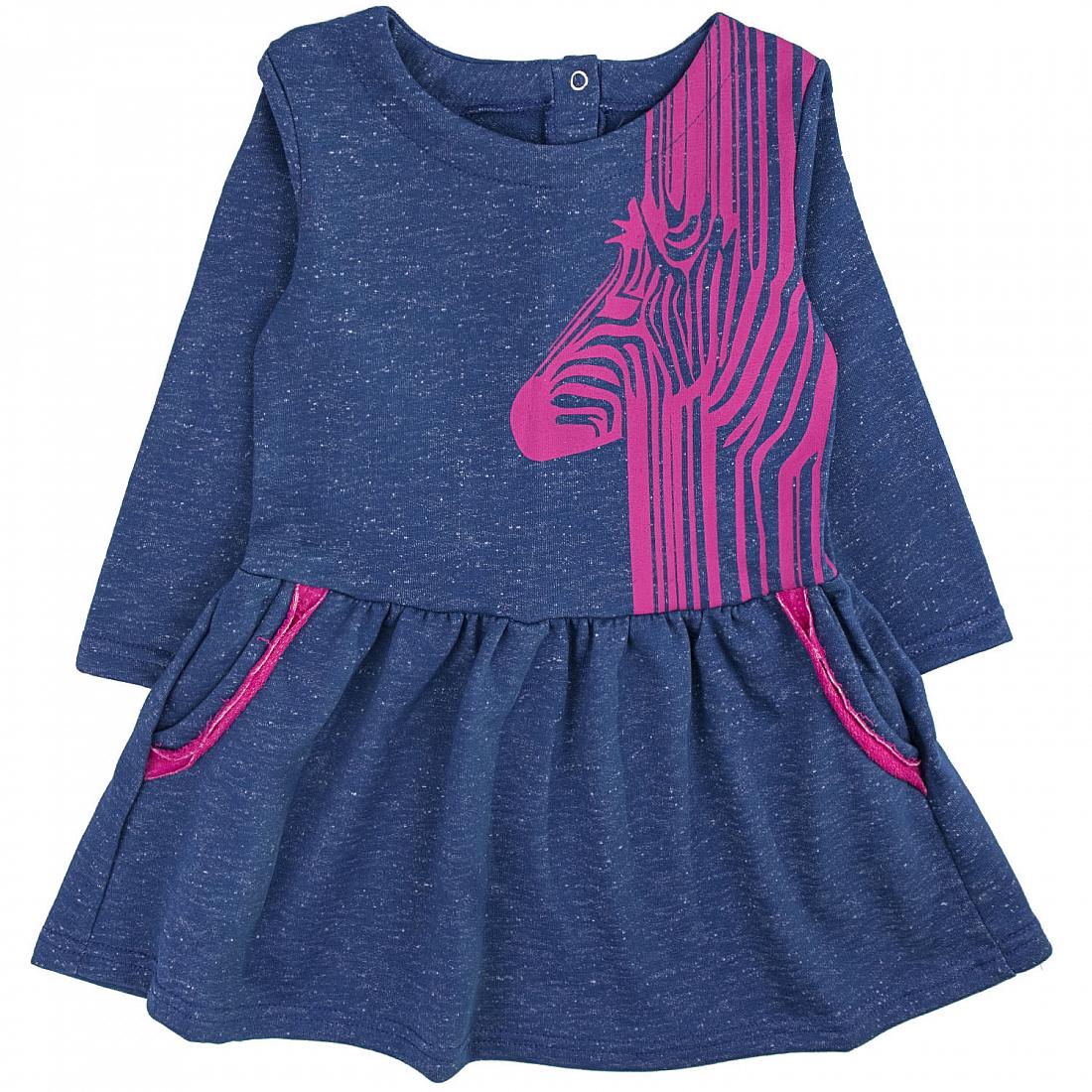 Купить 731фд ап, Платье детское Юлла, цв. синий р. 122, Платья для девочек