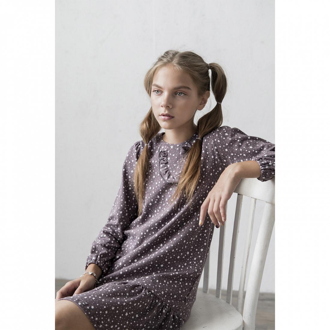 Купить 841и, Платье детское Юлла, цв. коричневый р. 122, Платья для девочек