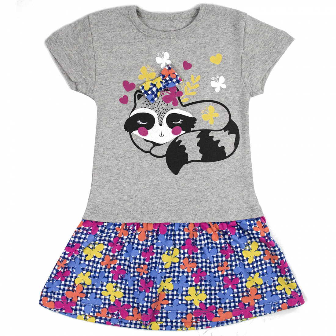 Купить 612и ап, Платье детское Юлла, цв. разноцветный р. 110, Платья для девочек