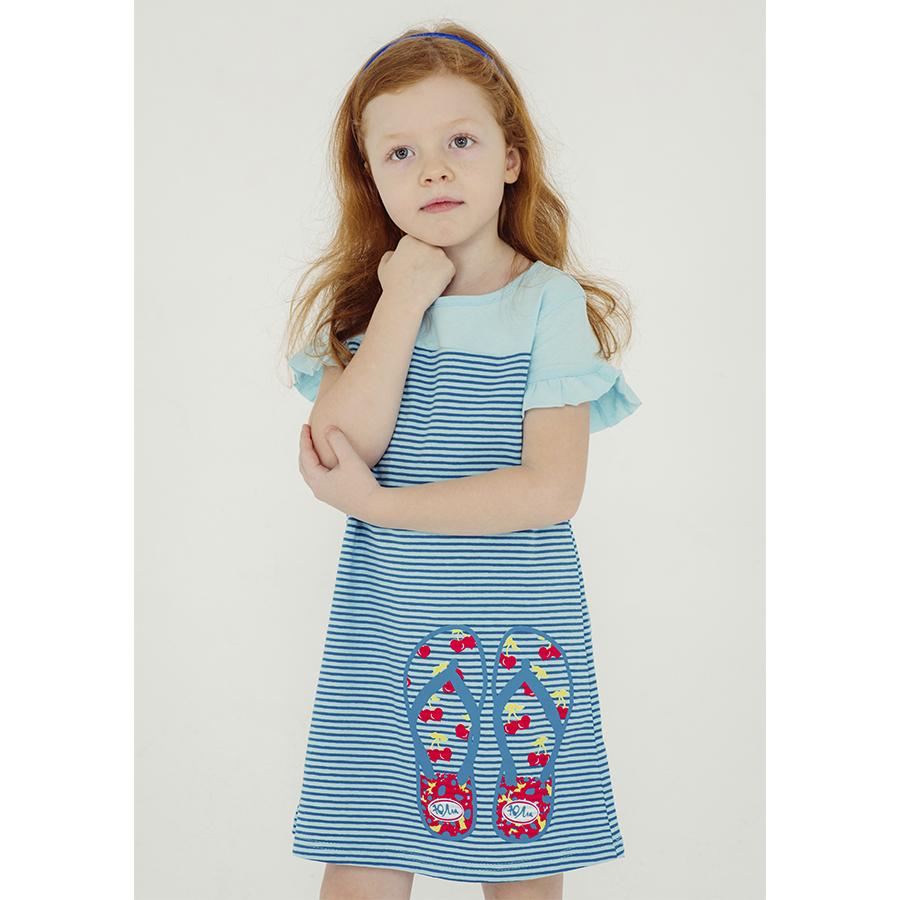 Купить 745к ап, Платье детское Юлла, цв. голубой р. 122, Платья для девочек